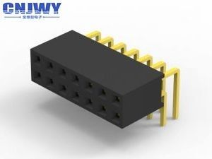 2 Mm Pitch Female Connector , Through Hole Plastic Right Angle Female Header