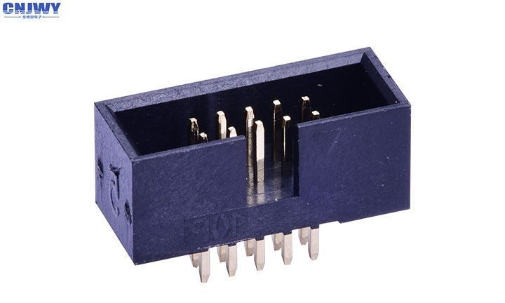 SMD Pcb Connectors Wire To Board , Dual Row Right Angle Pin Header Insulation Resistance