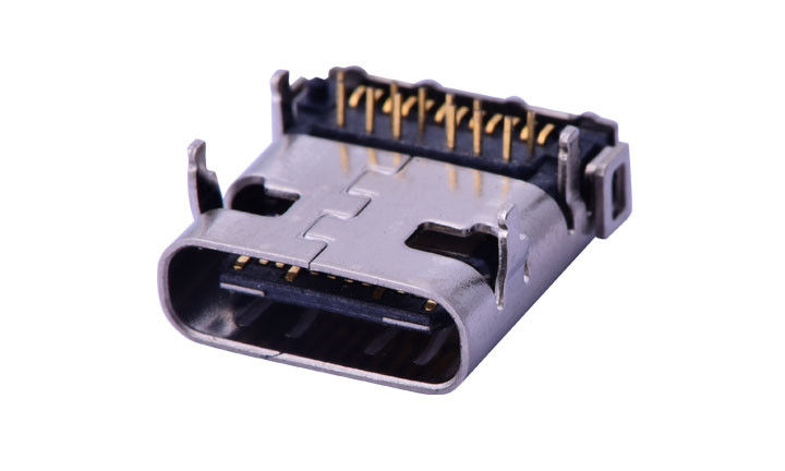 Copper Alloy Input Output Connectors , 90 Degrees Usb 3.1 Connector 1.8A AC RMS