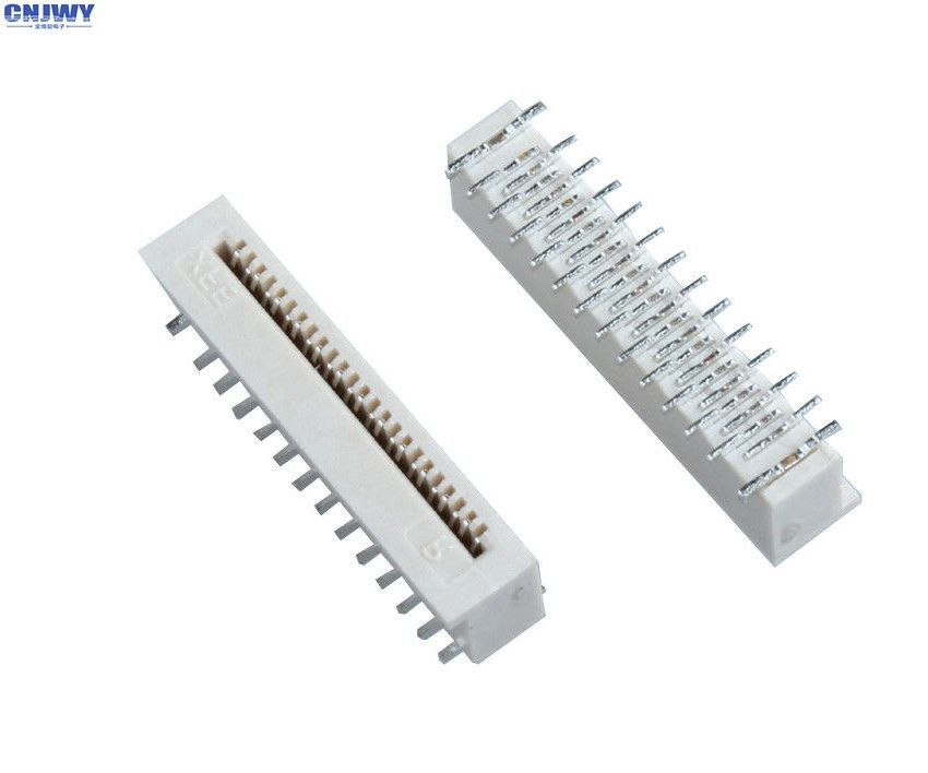 Vertical SMD  0.3 Mm Fpc Connector , Surface Mount Ribbon Cable Connectors