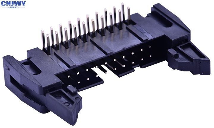 Square Circuit Board Pin Connectors , 2.54 Mm Right Angle Wire To Board Header