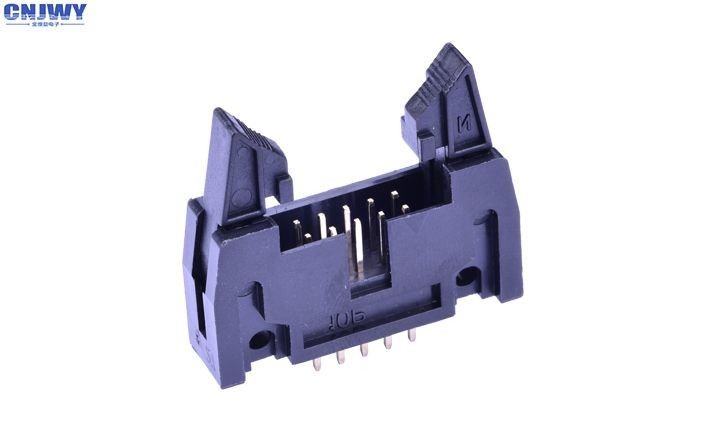 Black PCB Wire To Board Connectors Gold Flash 1000MΩ Min Insulation Resistance: