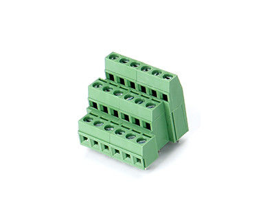 EU Style PCB Terminal Block Connector CET1.5 Plugged in 5.08mm Pitch 1*06P Green